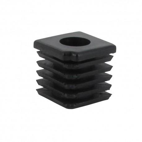 Capuchon noir du bas 3 coins 40X40X40 mm x6