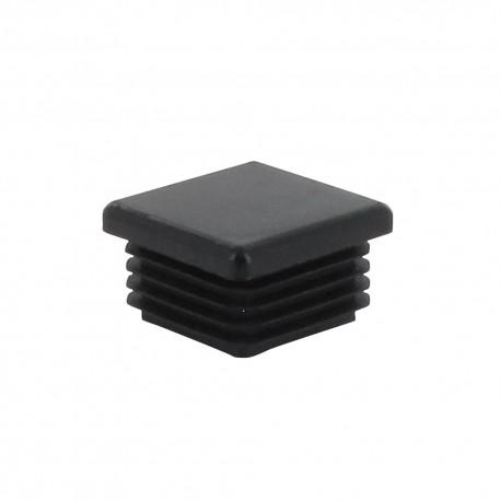 Capuchon noir du centre 4 coins 40X40X23 mm X2