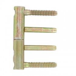 """Fiche plate réglable """"3D"""" diamètre 14x82 mm acier bichromaté lot de 4"""