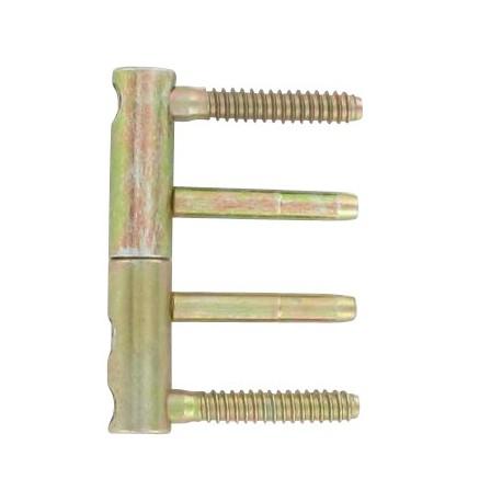 """Fiche plate réglable en 3 dimensions \\""""3D\\"""" diamètre 14x82 mm acier bichromaté X4"""