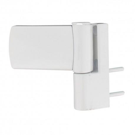 Paumelle 3 dimensions zamac blanc RAL9106 menuiseries PVC 130 kg