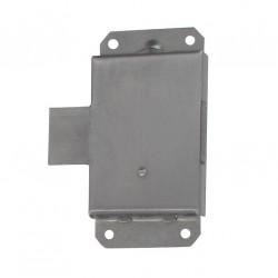 Serrure acier brossé axe 19mm droite/gauche avec 1 clé au choix lot de 2