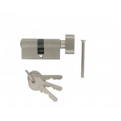 Cylindre à bouton sur Passe Général X de 60 mm varié en laiton chromé