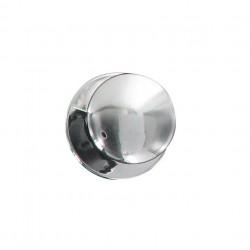 Bouton de meuble rond chromé diamètre 30/11 mm X4