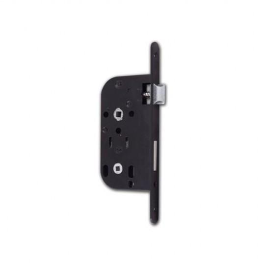 Serrure à larder condamnation noire axe 50/14mm avec gâches droite 1ère qualité