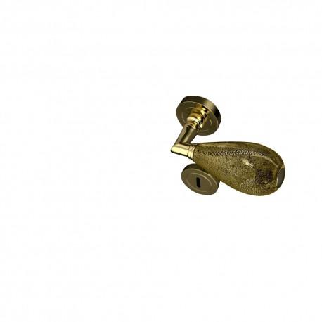 Poignées et rosaces trou de clé Goccia noir et or