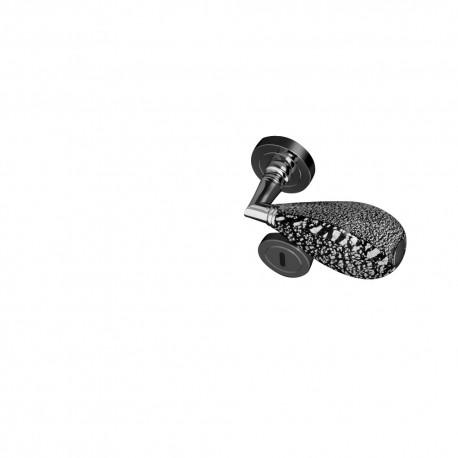 Poignées et rosaces trou de clé Goccia noir et argent