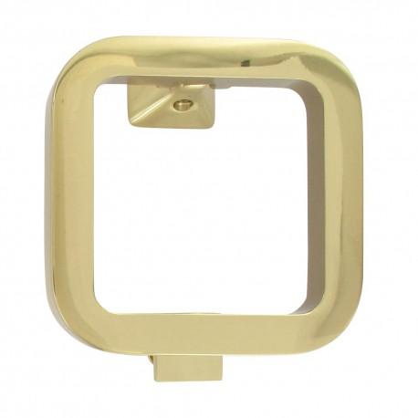 Heurtoir de porte Q-ARTE moderne en laiton jaune polie