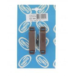 Loqueteaux magnétiques marron force 6 kg lot de 8 (4x2)