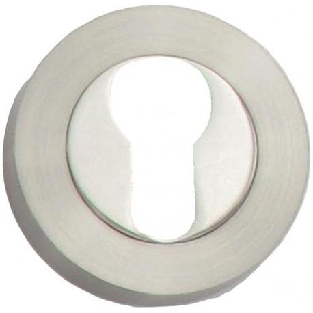 Sous-rosaces et rosaces KREATIVA DUO D54 à trou cylindre I chromée & satinée
