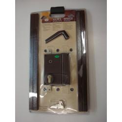 Sûreté en applique 3 points axe à 50 mm marron droite