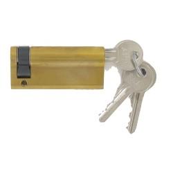 Demi-cylindre de 70 mm varié en laiton poli 3 clés laiton nickelé
