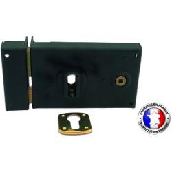 Sûreté horizontal+gâche noire fouillot 6mm à droite