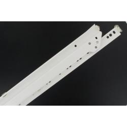 Coulisses de tiroir blanc sortie totale paire 400 mm
