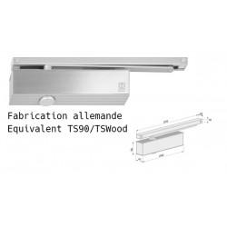 Ferme-porte gliss réversible, réglée 3 normes CE - EN 1154 - PMR gris
