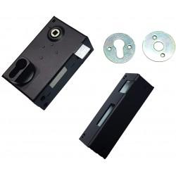 Sûreté verticale à fouillot de 7 mm trou de cylindre européen I, noire Droite