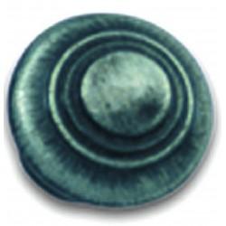 Bouton rustique de meuble vieil argent D30 mm