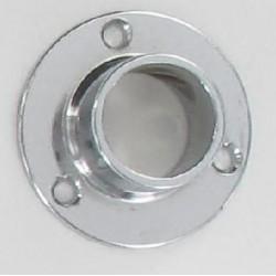 Support métal d'extrémités (naissance) tube chromée diamètre 20 mm lot de 3