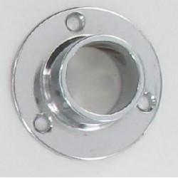 Support métal d'extrémités (naissance) tube chromée diamètre 20 mm X3