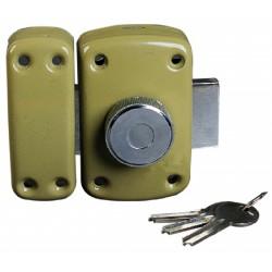 Verrou à bouton canon de 45 mm, bronze or 3 clés