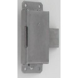 Serrure acier brossé axe 15mm droite/gauche avec 1 clé au choix lot de 2
