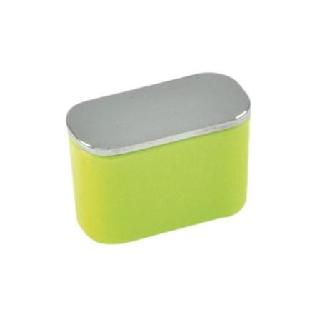 Bouton de meuble ovale citron vert