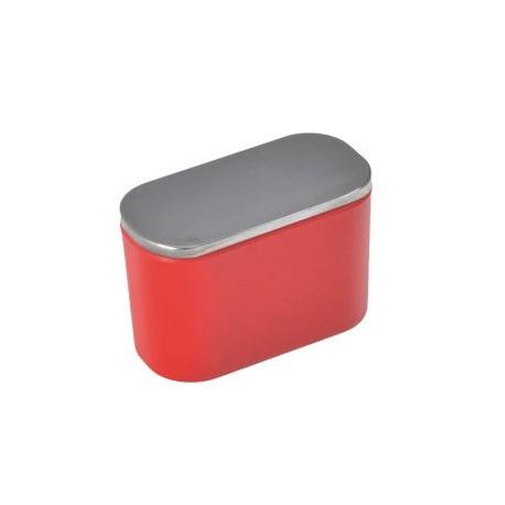 Bouton de meuble ovale rouge