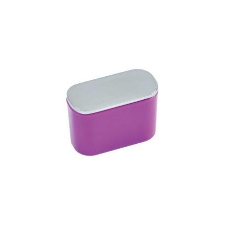 Bouton de meuble ovale lilas
