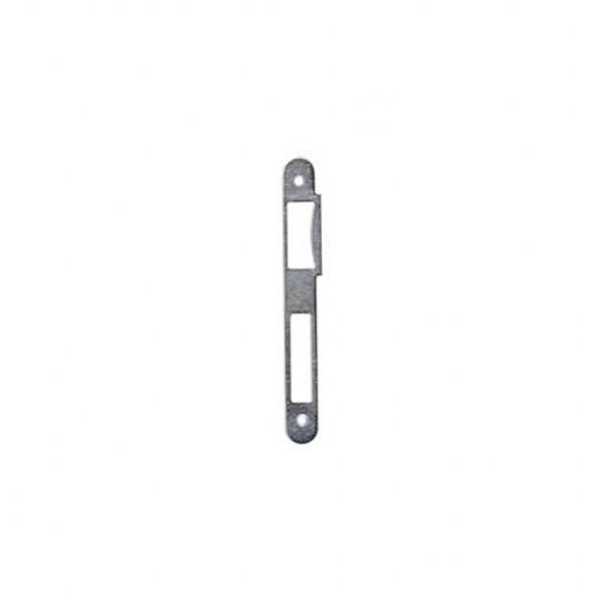 Gâche traîne de 3 mm, 2 trous de vis, 176x20x1,3 mm d'épaisseur zingué blanc X5