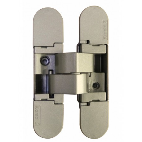 Charnière invisible 3D réversible 5 pivots, finition satinée