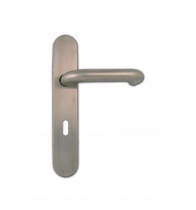 Poignée inox 304 trou de clé L 236X42X10 mm rappel bequille ressort