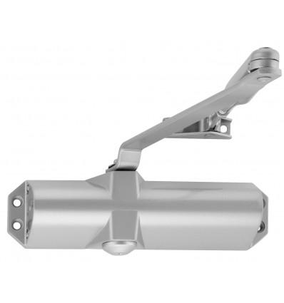 Ferme-porte bras compas révers norme CE - EN 1154- PMR adaptable coupe-feux gris