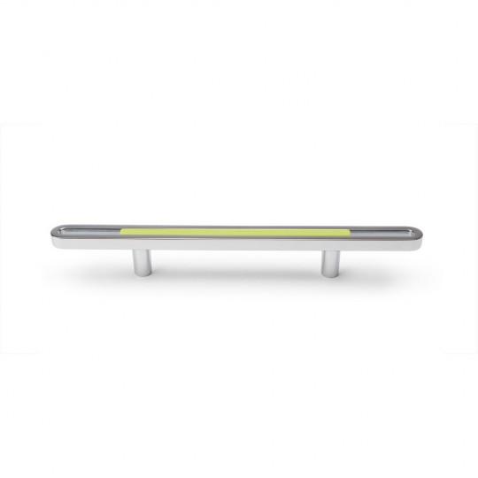 Poignée de meuble ovale CLIP, chromée