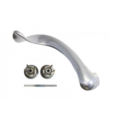 Paire de poignées Ulna Silver avec mécanisme