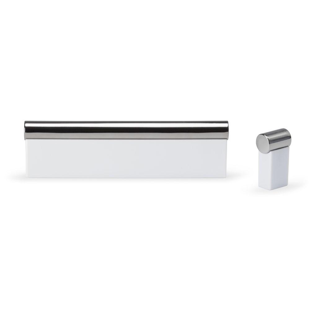 Poignée meuble rectangulaire/pyramide horizontal 10/10 mm nickelée brossé