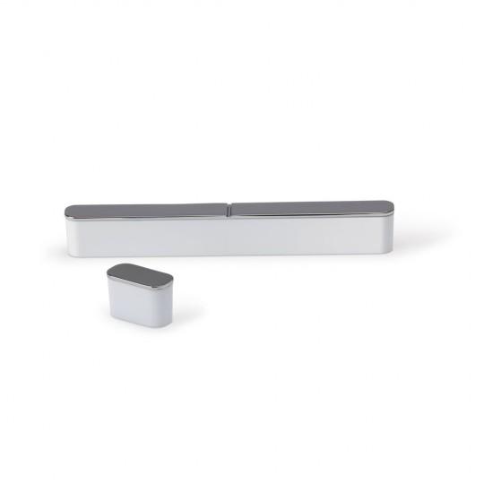 Poignée de meuble oblongue ROMA 160/175 mm nickelée brossé