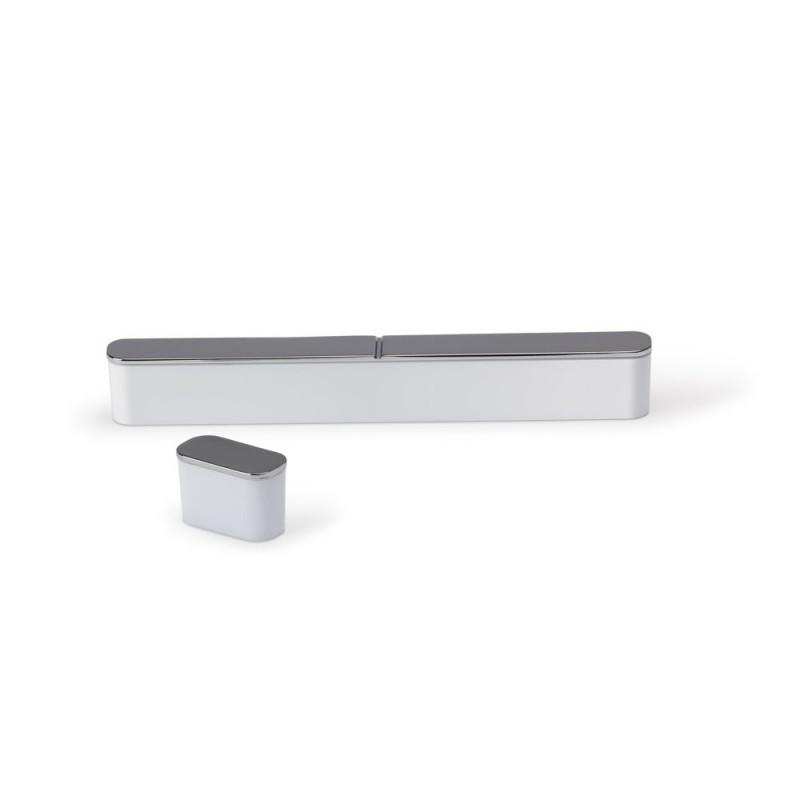 Poignée de meuble oblongue SENSE 128/135 mm alu façon argent