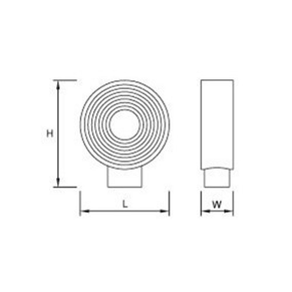 Bouton de meuble circulaire bague chrom int rieur blanc 25 mm for Meuble circulaire