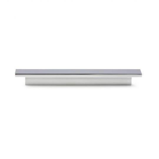 Poignée de meuble rectangulaire TABLE 96/136 mm chromée satinée