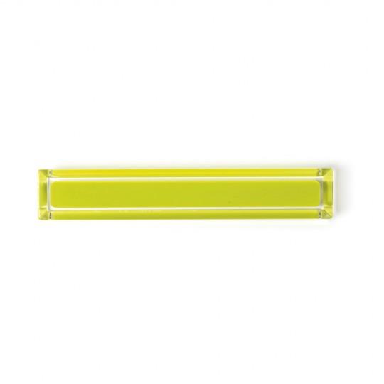 Poignée de meuble rectangulaire CORE, citron vert