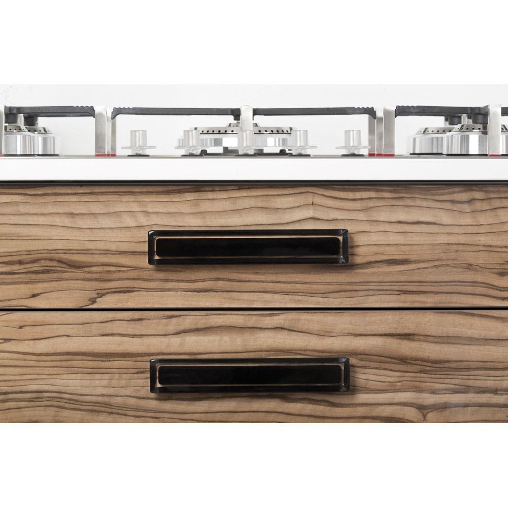 poign e de meuble rectangulaire core 96 125 mm acrylique noire. Black Bedroom Furniture Sets. Home Design Ideas