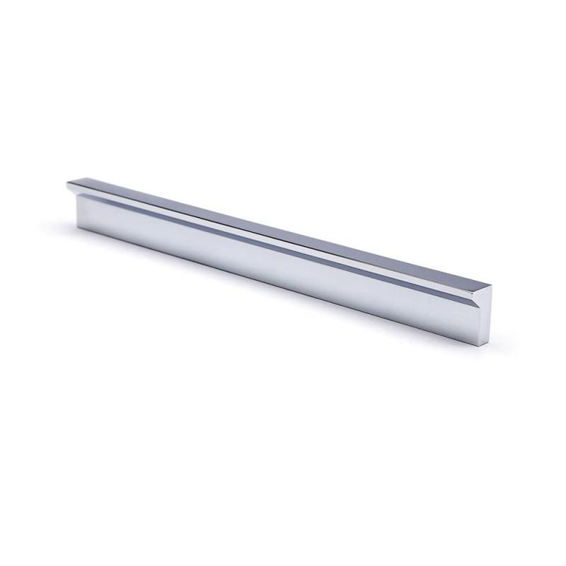 Poignée de meuble avec découpes d'angle, aluminium