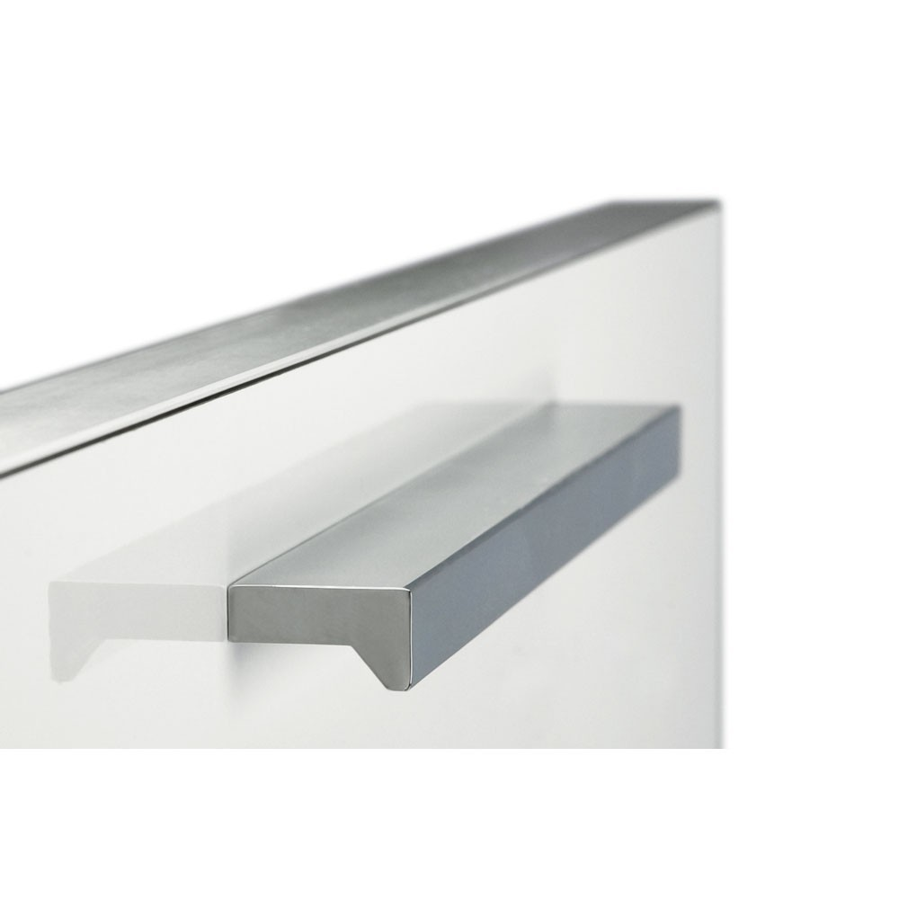 Poign e de meuble avec d coupes d 39 angle aluminium - Poignee de meuble originale ...