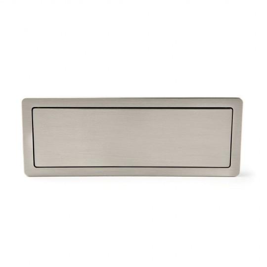 Poignée de meuble rectangulaire RASO, nickelée