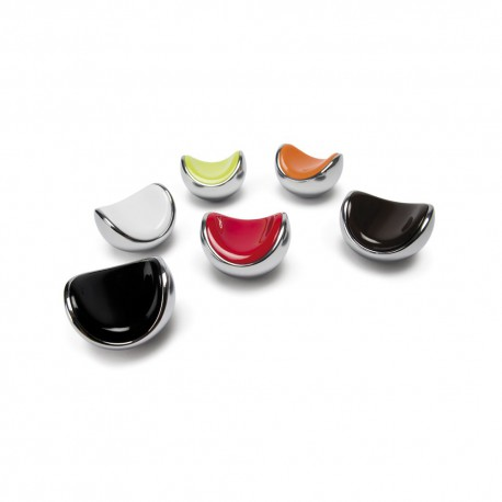Bouton de meuble corbeille chromé/marron 40X38 mm