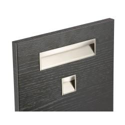 Poignée de meuble rectangulaire WAVE, nickelée