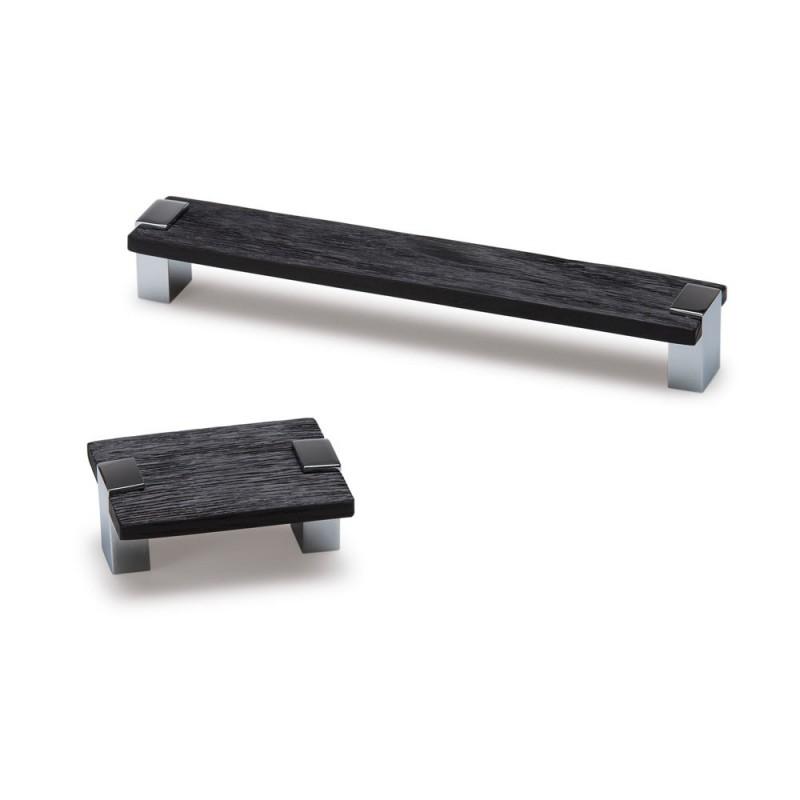 bouton de meuble rectangulaire bad bois noir. Black Bedroom Furniture Sets. Home Design Ideas